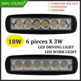 Voiture 18W à LED Lampe à LED de 6 pouces des feux de conduite