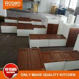 Comércio por grosso de madeira de cerejeira de estilo europeu, armário de cozinha
