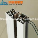 Section en aluminium de guichet de tissu pour rideaux glacée par double