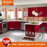 De eigentijdse Rode Lak beëindigt Keuken Cabinetry