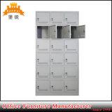 A mobília do metal de 18 portas ostenta o cacifo do gabinete de armazenamento da roupa da ginástica