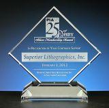 Hersteller-Zubehör-Kristallglas-Sport-Trophäe-Preise mit kundenspezifischem Firmenzeichen