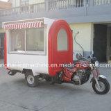Preço móvel Jy-B48 do reboque do carro do alimento do triciclo do motor/alimento