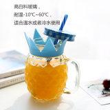 De kleurrijke Kruik van de Metselaar van de Fles van het Glas van de Vorm van de Ananas voor Drank