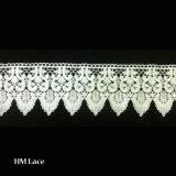 bordo poco costoso all'ingrosso del merletto di 11.4cm bello, testo fisso metallico del merletto dell'oro per la decorazione dell'indumento