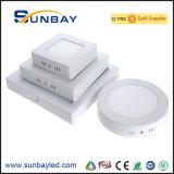 Montado en la superficie de 6W 9W 12W 15W 18W 20W 24W LED cuadrado Lámpara de techo