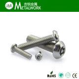 Acero inoxidable Torx Pan / botón / avellanado de seguridad Tornillo de cabeza con el Centro Pin