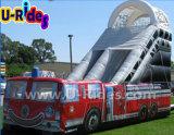 Glissière gonflable de camion de pompiers pour des enfants