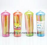 Pajas de beber flexibles plásticas en rectángulo suave del dispensador