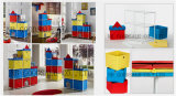 아이 사랑스러운 DIY 성곽 저장 상자 고정되는 조직자--9PCS