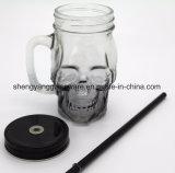 Förderndes Geschenk-Glasflaschen-/Tee-Cup-Glasbecher mit Metallkappe und -stroh