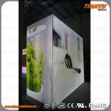 スリムLED広告アルミ素材をライトボックスをオン