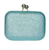 Barato PVC Celeste Mini Coin Purse, Money Clip con estuche duro