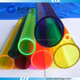 Tubulações plásticas do acrílico PMMA da alta qualidade com cores feitas sob encomenda