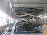 Garaje hidráulico de elevación de la tijera de automóviles usados con tornamesa
