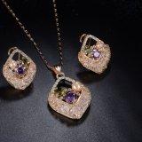 女の子のラインストーンの立方ジルコニアの真珠の女性宝石類セット