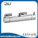 Faucet lustrado expor do chuveiro da temperatura do cromo do banho de chuveiro misturador termostático