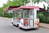De elektrische Vrachtwagen van de Bakkerij, de Vrachtwagen van het Voedsel