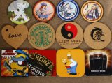 Coasters promocionais promocionais coloridos mais baratos