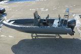 Aqualand 26feet 8mエヴァの固体泡のフェンダーのNon-Air満たされたSponsonの管か堅く膨脹可能な採取の/Rescue/Diving/Patrol/Ribの軍のモーターボート(rib800b)