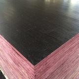 A película da camada da cor do preto do folheado do núcleo do Poplar enfrentou a madeira compensada (6X1250X2500mm)