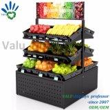 Supermarkt-Obst- und GemüseBildschirmanzeige-Zahnstangen-Fußboden-stehendes Speicher-Standplatz-Regal