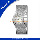 Montres Irregular Shape Diamond Ladies Stainless Steel