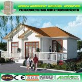 Hogares modulares ligeros de madera prefabricados modernos de la estructura de acero del bajo costo