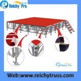 赤い段階のボードの移動段階のアルミニウム段階の屋外段階