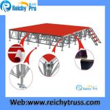 Rotes Stadiums-Vorstand-bewegliches Stadiums-Aluminiumstadiums-im Freienstadium