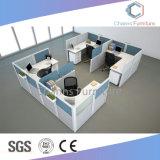 Boa qualidade de mobiliário de escritório de quatro lugares a melamina cubículos com armários (CAS-W615)
