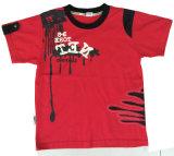 雪の綿の品質Sqt-615と着ている子供の洗浄の赤ん坊の子供のTシャツ