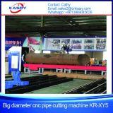 パイプライン1000mmの大きい直径CNC血しょうOxyの燃料管の切断の斜角が付く機械