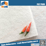 マットレスのための卸し売りバルク熱くするポリエステルNonwovenのフェルトのパッド、白のフェルトのパッド