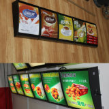 O restaurante de fast-food acrílico acrílico LED indicativo de LED do monitor