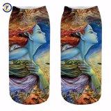 De aangepaste 3D Sokken van Elastane van de Polyester van de Druk