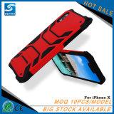Klarer Farben-Armkreuz-Mann-Verteidiger-Telefon-Kasten für iPhone X
