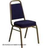 호텔 가구 해군에 의하여 모방되는 직물과 형 거품을%s 가진 사다리꼴 뒤 겹쳐 쌓이는 연회 의자