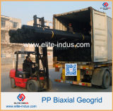 Plastikpolypropylen pp. HDPE Polyester-Fiberglas einachsiges HDPE Geogrid