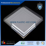 Strato acrilico trasparente di PMMA con il filetto in materiale da costruzione