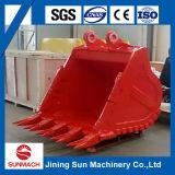 Cubeta da máquina escavadora para a máquina escavadora média Ex300 do tamanho de Hitachi