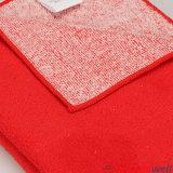 Toalla de limpieza rosada de Microfiber del algodón