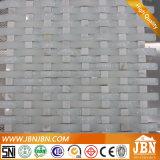 Сетка матовый белый камень Volakas стеклянной мозаики и мозаичные (M855094)