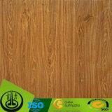 Papel de madera del grano del final de la PU de la impresión para el suelo, HPL, MDF
