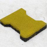 El azulejo de goma de interior/recicla el azulejo de goma/la pavimentadora de goma colorida