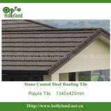 Telha de telhado do metal com as microplaquetas de pedra revestidas (telha da ondinha)