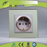 Interruttore di vetro nero standard del campanello dell'Ue certificato Ce/BV