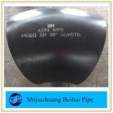 Codo de la autógena de tope del grado LR del tubo de acero 90 de carbón Sch80