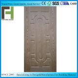 EV de la madera de nogal oscuro chapa HDF moldeado de la piel de la puerta de MDF