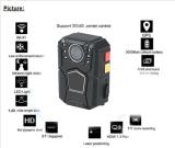 Full HD 1080P impermeável Corpo Policial Câmara CCTV com Controle Remoto WiFi